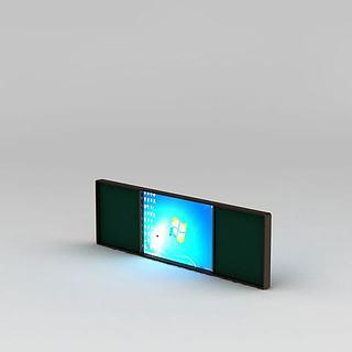 现代教室多媒体黑板3d模型