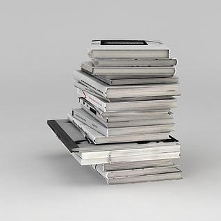 一摞外文书籍3d模型3d模型