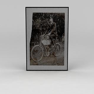 俄罗斯人物黑白挂画3d模型3d模型