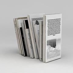 英文杂志书刊模型3d模型