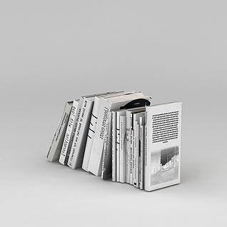 英文书刊3d模型3d模型