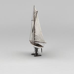 帆船摆件模型3d模型