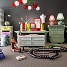 儿童卧室玩具家具组合模型