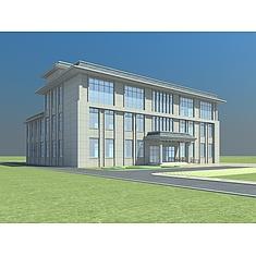 现代灰色办公楼3D模型3d模型