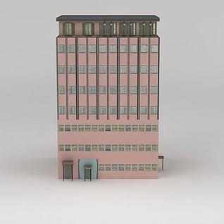 精品室外建筑高楼3d模型3d模型