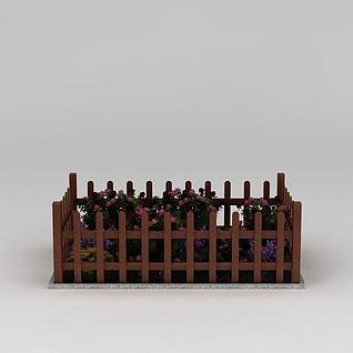 栅栏式花盆3d模型