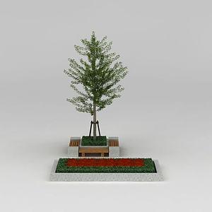 行道树银杏树模型
