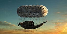 远古飞艇空气飞船模型