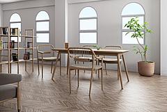 书吧实木书桌椅模型3d模型
