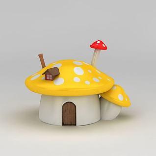 蘑菇房子3d模型