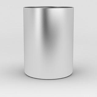 不锈钢圆形筷子筒3d模型