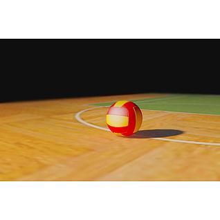 排球3d模型