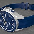 蓝色运动手表模型