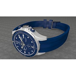 蓝色运动手表3d模型