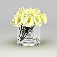 现代室内装饰花3D模型3d模型