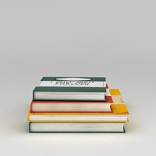 外文书籍读物3d模型