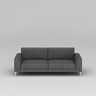 中式灰色布艺沙发3d模型3d模型