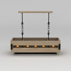 时尚创意实木吊灯3D模型3d模型