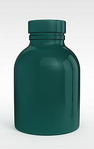 3d现代绿色<font class='myIsRed'>水瓶</font>模型