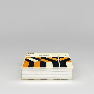 字典书籍3d模型
