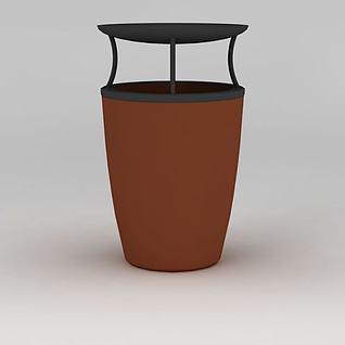 商场垃圾桶3d模型