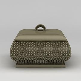 3d复古首饰盒珠宝盒模型