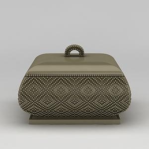 復古首飾盒珠寶盒模型3d模型