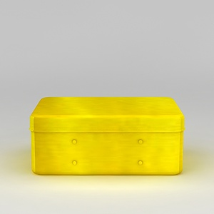 3d黄色储物盒模型