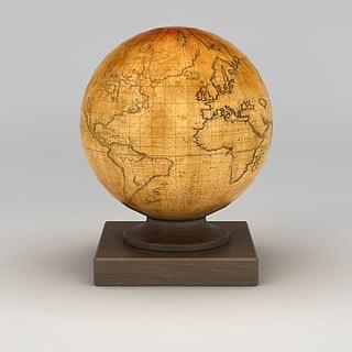 复古地球仪3d模型
