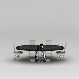 公司办公室会议桌椅3d模型
