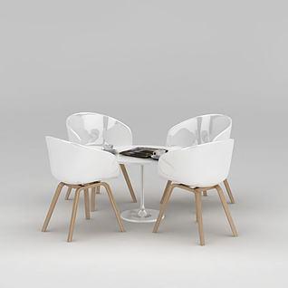 下午茶餐桌椅3d模型3d模型