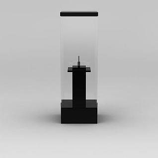 博物馆独立展示柜3d模型