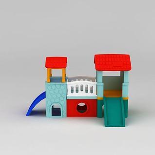 小神童滑梯组合3d模型