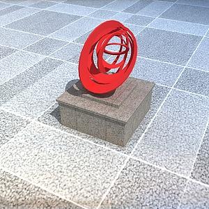 公园创意抽象雕塑模型3d模型