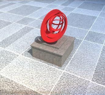 公园创意抽象雕塑