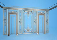 欧式风格雕花角线模型3d模型