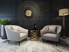 创意客厅家具休闲沙发椅模型3d模型