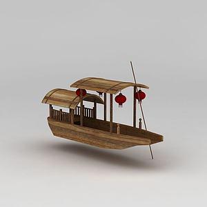 ?#19994;?#31548;古代游船模型