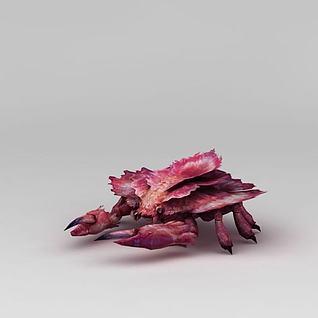 红色螃蟹3d模型