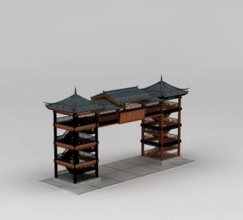 中式古建筑门楼