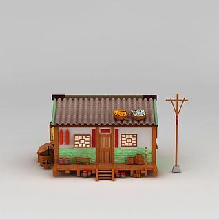 游戏房屋3d模型3d模型