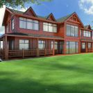 二层木屋别墅模型