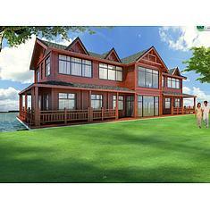 二层木屋别墅3D模型3d模型