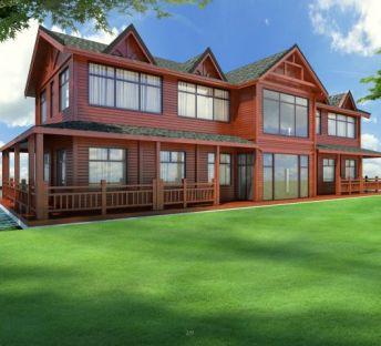 二层木屋别墅