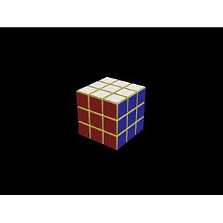 三阶魔方3d模型