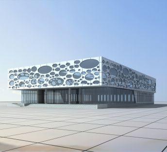 现代体育馆建筑