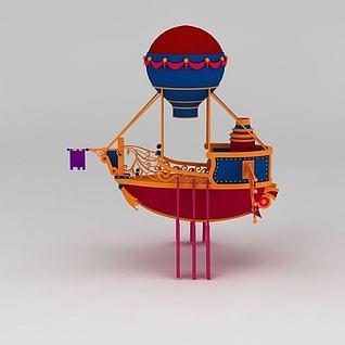 儿童卡通船3d模型