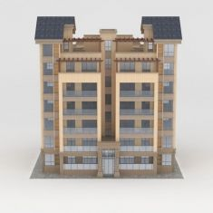 多层住宅建筑3D模型3d模型