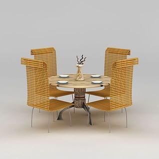 庭院休闲竹椅3d模型3d模型