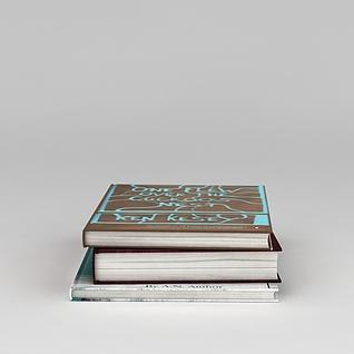 硬皮书籍3d模型3d模型